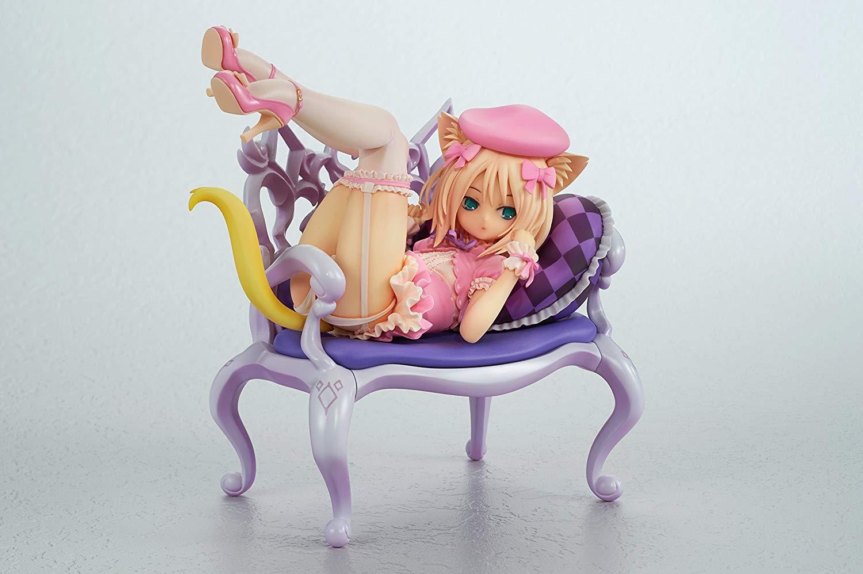 ふんわり猫と椅子  【1/8スケール】 ―椅子の柄は下着― 【アダルトフィギュア】